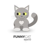 Ilustração engraçada do gato Imagem de Stock Royalty Free