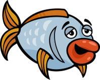 Ilustração engraçada dos desenhos animados dos peixes Foto de Stock Royalty Free