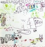 Ilustração engraçada dos gatos Fotos de Stock