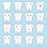 Ilustração engraçada grande ajustado do dente bonito dos desenhos animados para seu projeto do Web site Conceito dos dentes probl Fotografia de Stock Royalty Free