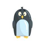 Ilustração engraçada pequena bonito do vetor do caráter do pintainho do pinguim Foto de Stock Royalty Free