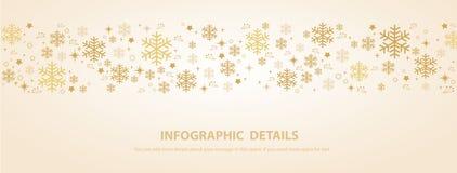Ilustração eps10 do vetor do fundo da bandeira do inverno do floco de neve ilustração royalty free