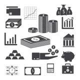 Ilustração EPS 10 dos ícones do dinheiro Foto de Stock