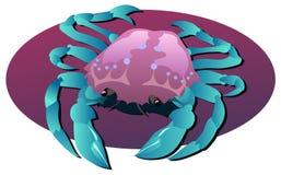 Ilustração equipada com pernas azul do caranguejo Fotos de Stock