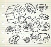Doodle do animal de estimação ilustração stock
