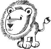 Ilustração esboçado do vetor do leão Imagem de Stock Royalty Free