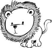 Ilustração esboçado do vetor do leão ilustração royalty free