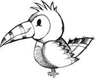 Ilustração esboçado do vetor do pássaro ilustração royalty free