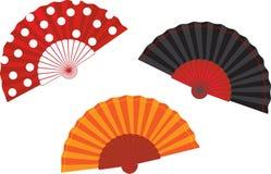 Ilustração espanhola ajustada do ventilador do vetor Foto de Stock