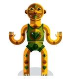 Ilustração espiritual do vetor do totem, desenho do tema da meditação Fotografia de Stock