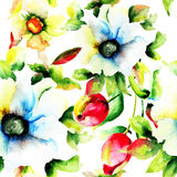 Ilustração estilizado das flores Imagem de Stock