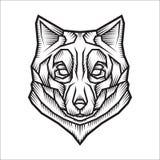 Ilustração estilizado do lobo Imagens de Stock
