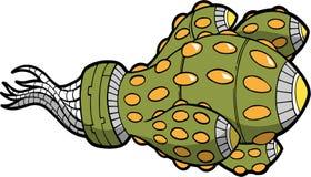 Ilustração estrangeira do vetor da nave espacial ilustração royalty free