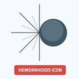 Ilustração externo EPS 10 do vetor do ícone das hemorroidas Foto de Stock