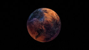 Ilustração extremamente detalhada e realística da alta resolução 3D um Exoplanet Disparado do espaço Imagem de Stock