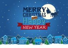 Ilustração fabulosa do Natal, cartão, vetor Imagens de Stock Royalty Free