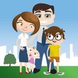 Ilustração feliz da família Imagem de Stock