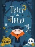 Ilustração feliz de Halloween ilustração do vetor