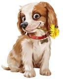 Ilustração feliz do cachorrinho Fotografia de Stock