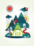 Ilustração feliz do conceito de famílias ilustração royalty free