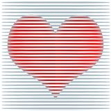 Ilustração feliz do fundo dos corações do dia de Valentim Fotos de Stock