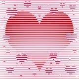 Ilustração feliz do fundo dos corações do dia de Valentim Ilustração Stock