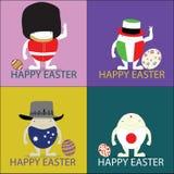 A ilustração feliz do ilustrador do vetor de easter eggs o conceito Foto de Stock Royalty Free