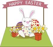 A ilustração feliz do ilustrador do vetor de easter eggs o conceito Imagens de Stock