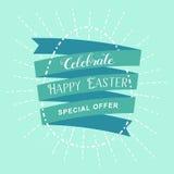 Ilustração feliz do ovo da rotulação da Páscoa Foto de Stock Royalty Free