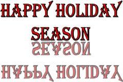 Ilustração feliz do sinal do texto da época de férias imagens de stock