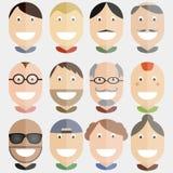 Ilustração feliz do vetor das caras Fotos de Stock