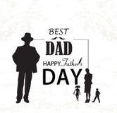 Ilustração feliz do vetor do dia do ` s do pai Foto de Stock Royalty Free