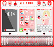 Ilustração feliz do vetor do Valentim do amor de Digitas Imagem de Stock