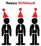 Ilustração feliz dos feriados do escritório Fotografia de Stock Royalty Free