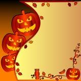 Ilustração festiva no tema de Dia das Bruxas com campo para o texto Imagens de Stock
