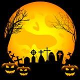 Ilustração festiva no tema de Dia das Bruxas Desejos para Dia das Bruxas feliz Truque ou deleite Foto de Stock