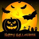 Ilustração festiva no tema de Dia das Bruxas Desejos para Dia das Bruxas feliz Truque ou deleite Imagens de Stock Royalty Free