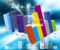 Ilustração financeira Fotos de Stock