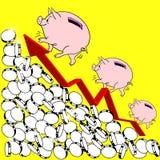 ilustração financeira do conceito do crescimento Foto de Stock Royalty Free