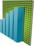 Ilustração financeira do gráfico de barras Imagens de Stock