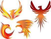 Ilustração flamejante do pássaro Fotografia de Stock Royalty Free