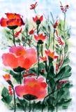 Ilustração a flor pequena Ilustração Stock