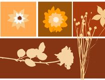 Ilustração floral Fotografia de Stock Royalty Free