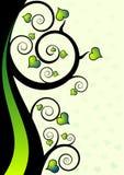 Ilustração floral abstrata do vetor dos corações Fotografia de Stock Royalty Free