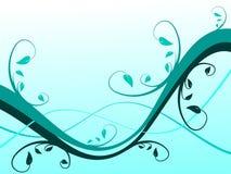 Ilustração floral ciana do fundo ilustração do vetor