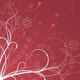 Ilustração floral com elementos, as flores e as plantas espirais Fotografia de Stock Royalty Free