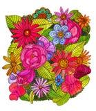 Ilustração floral da floresta Foto de Stock Royalty Free