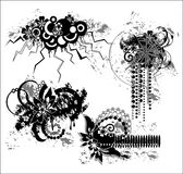 Ilustração floral de Grunge ilustração royalty free