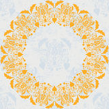 Ilustração floral do círculo ornament ilustração royalty free