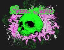 Ilustração floral do crânio   Fotografia de Stock Royalty Free